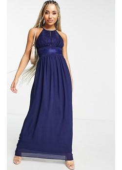 TFNC – Granatowa plisowana sukienka maxi-Granatowy Asos Poland promocja - kod rabatowy