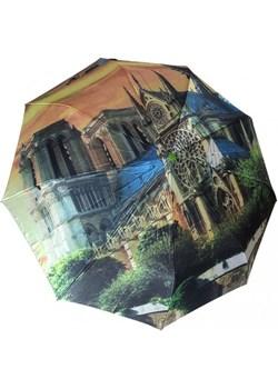 Katedra Notre Dame parasolka składana full-auto satyna Lantana Parasole MiaDora.pl - kod rabatowy