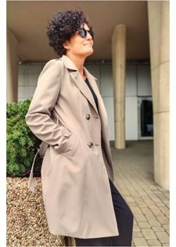 Dwurzędowy Trencz Marlen Beżowy Butik Choice promocyjna cena butik-choice - kod rabatowy
