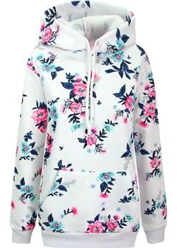 Ciepła bluza z kapturem z kwiatowym motywem Kafrim.pl kafrim.pl - kod rabatowy