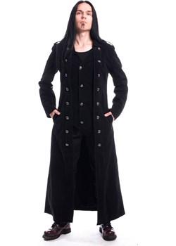 Gotycki długi dwurzędowy płaszcz Walker Coat Vixxsin rockzone.pl - kod rabatowy
