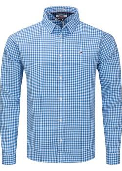 KOSZULA MĘSKA TOMMY JEANS REGULAR  BLUE Tommy Jeans promocyjna cena zantalo.pl - kod rabatowy