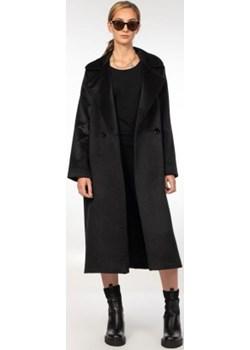 Czarny płaszcz damski z kaszmiru Ola Melcer Ola Melcer - kod rabatowy