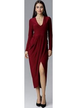 Sukienka Model M636 Bordo Figl Mywear - kod rabatowy