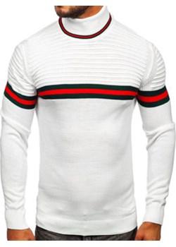 Biały sweter męski golf Denley 2502 okazja Denley - kod rabatowy