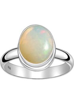 Srebrny pierścionek z dużym opalem etiopskim Monarti monarti.pl - kod rabatowy