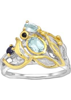 Ekskluzywny srebrny pierścionek z Szafirem i Topazem Monarti monarti.pl - kod rabatowy