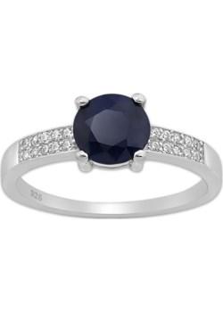 Srebrny pierścionek z Szafirem i Cyrkoniami Monarti monarti.pl - kod rabatowy