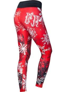 Thermo Winter Leggings Black Deer czerwony Fj! FeelJ! - kod rabatowy