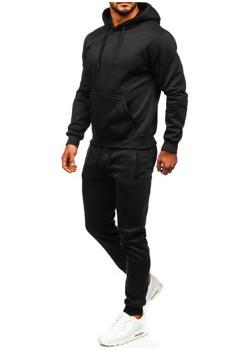 Czarny dres męski z kapturem Denley D003 promocja Denley - kod rabatowy