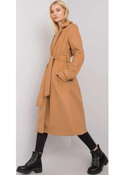 Camelowy płaszcz z wiązaniem Selda OCH BELLA Och Bella promocyjna cena netmoda.pl - kod rabatowy