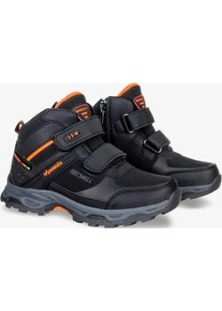 Czarne buty trekkingowe na rzepy softshell Badoxx 5XC8276-W-ORG okazyjna cena Casu.pl - kod rabatowy