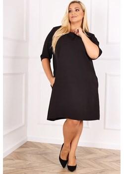 Czarna Sukienka DERTIS Plus Size TONO - kod rabatowy