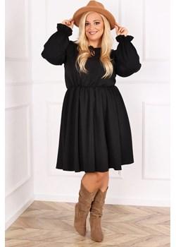 Czarna Sukienka LUKIA Plus Size TONO - kod rabatowy