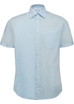 Koszula niebieska  z krótkim rękawem Bodara ATELIER-ONLINE - kod rabatowy