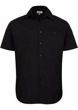 Koszula czarna  krótki rękaw Bodara ATELIER-ONLINE - kod rabatowy