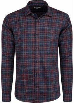 Bodara koszula flanelowa w granatowo-bordową kratę Bodara okazyjna cena ATELIER-ONLINE - kod rabatowy