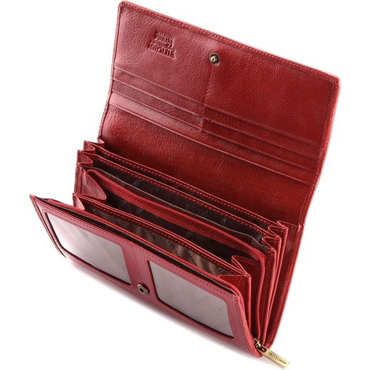 9504be1a96af2 ... czerwony duży · 25-1-052-3 Portfel wittchen brazowy kieszeń na bilon ...