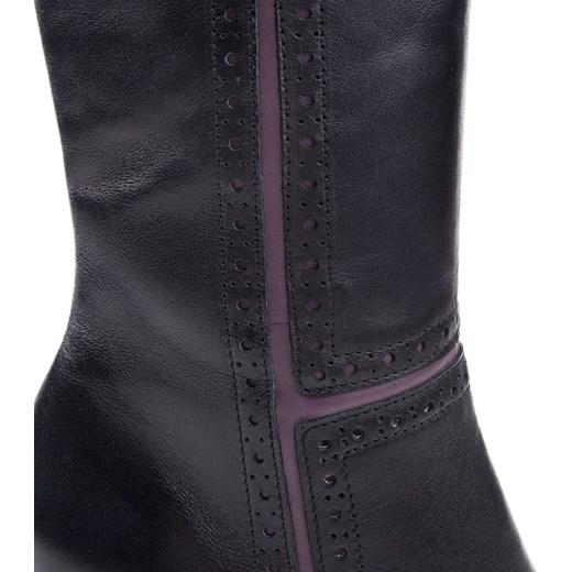 59d0cde93f991 ... 656F-C25 Marco Shoes eleganckie czarne kozaki + fiolet milandi-pl  kolorowe ...