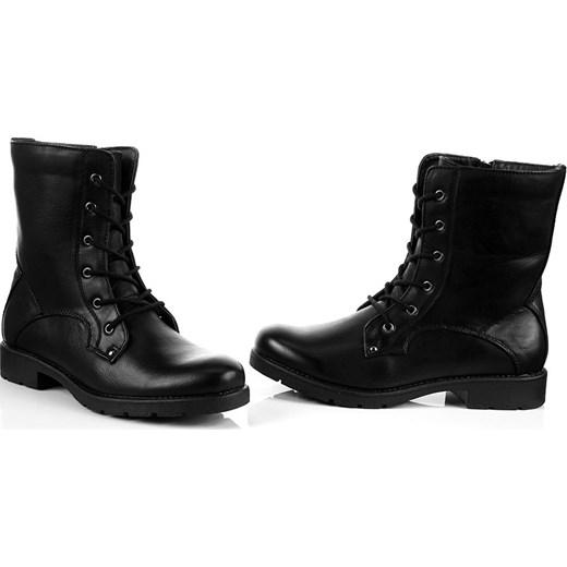 54c7ea8468ebe ... K&M JG260 czarne botki damskie workery sznurowane na suwak butyraj-pl  czarny ekologiczne ...