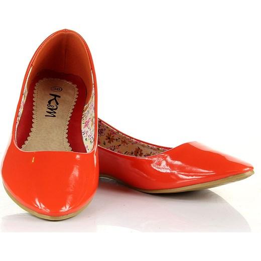 61c0706c6d1aa ... K&M JK506 pomarańczowe baleriny damskie lakierowane butyraj-pl  pomaranczowy kolekcja