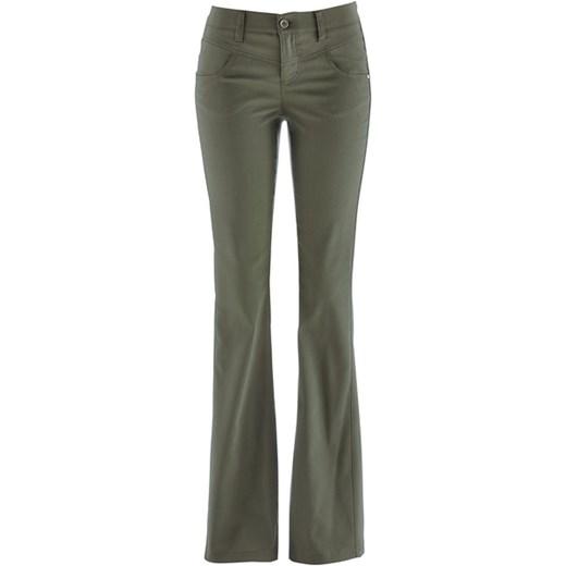 3ae9b293 Spodnie ze stretchem BOOTCUT bonprix szary
