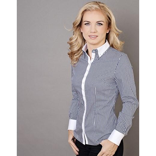 747a42a4 Bluzka damska Willsoor willsoor-sklep-internetowy szary Koszule damskie w  kratę