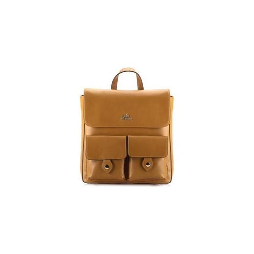 90fb9542e32f7 Wittchen Elegance damski plecak skórzany jasny brąz royal-point brazowy bez  wzorów nadruków