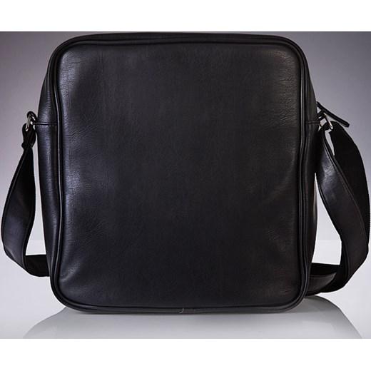 fba18dff1513e ... TORBA MĘSKA LISTONOSZKA czarna klasyczna, na ramię SOLIER S19  skorzana-com czarny ekologiczne ...
