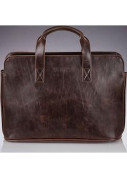 SOLIER S05 elegancka ciemnobrązowa męska torba na ramię, torba na laptop skorzana-com szary miękkie - kod rabatowy
