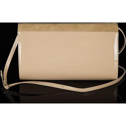 cc2d1834790eb ... FELICE Clutch F01 beżowa elegancka torebka damska wizytowa kopertówka  skorzana-com brazowy elegancki ...