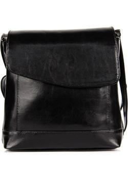 DAN-A T250 czarna torebka skórzana listonoszka skorzana-com czarny casual - kod rabatowy