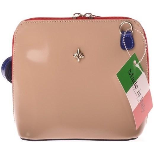 58aa38d27eb91 MADE IN ITALY Postino 019 beżowa włoska torebka skórzana listonoszka  skorzana-com brazowy listonoszki