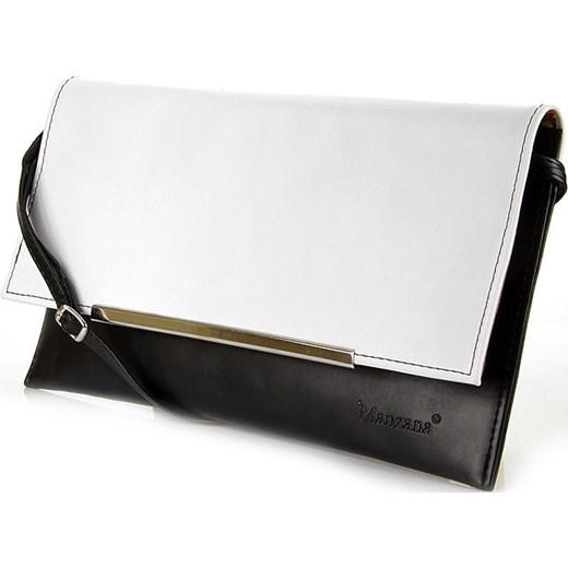 4ae9ee0de74f4 ... Czarno - biała elegancka torebka damska wizytowa kopertówka  skorzana-com bialy kopertówki ...