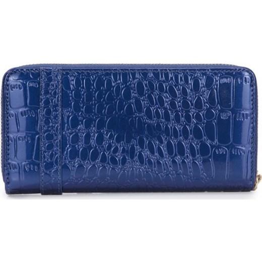 4cd316ce8c724 ... Krokodyli portfel zasuwany Niebieski pandzior-pl-new-vogue granatowy  kolorowe ...