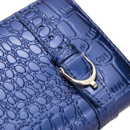 f12d6707b3a78 ... granatowy kolorowe; Krokodyli portfel zasuwany Niebieski pandzior-pl-new -vogue fioletowy markowy ...