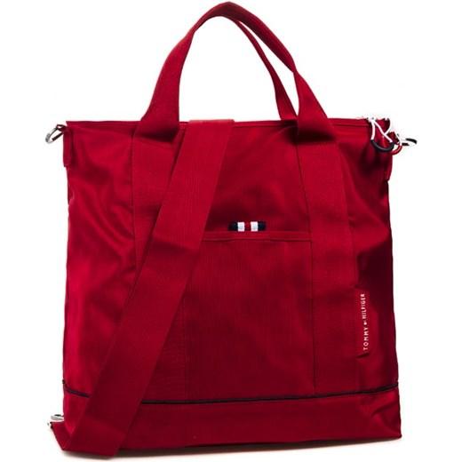 94cc1098ad161 Torebka TOMMY HILFIGER - Newport Shopper 4ATWW505 Red 03 eobuwie-pl brazowy  materiałowe