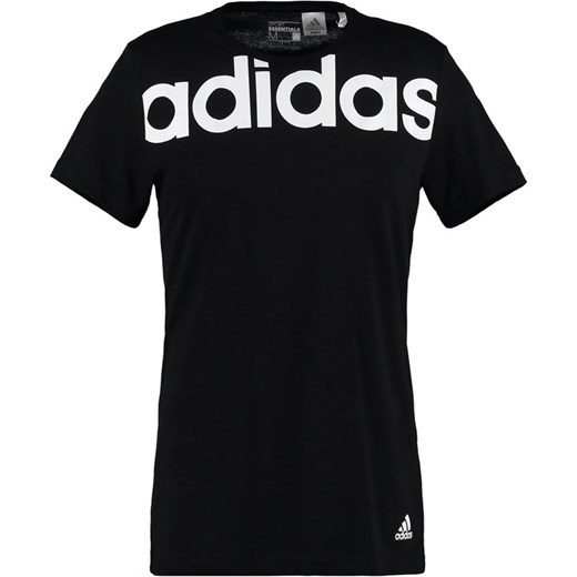 adidas Performance ESSENTIALS Koszulka sportowa blackwhite zalando czarny abstrakcyjne wzory