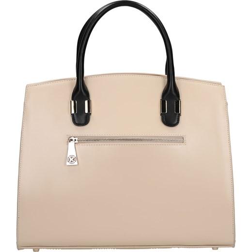 40c039760fb5f ... bezowy elegancki  Kremowa torebka skórzana kazar-com bezowy klasyczny