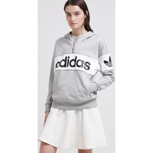 c704792fe4ed ... szary kaptur  adidas Originals CITY Bluza z kapturem medium grey  heather zalando bialy mat ...