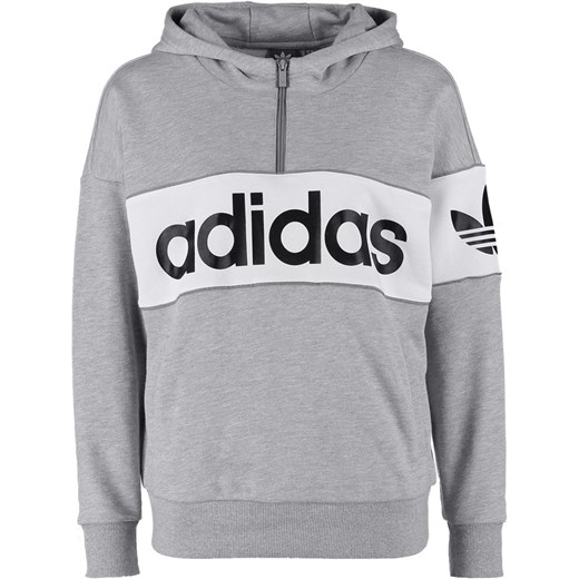e0852a2c4 adidas Originals CITY Bluza z kapturem medium grey heather zalando szary  abstrakcyjne wzory w Domodi