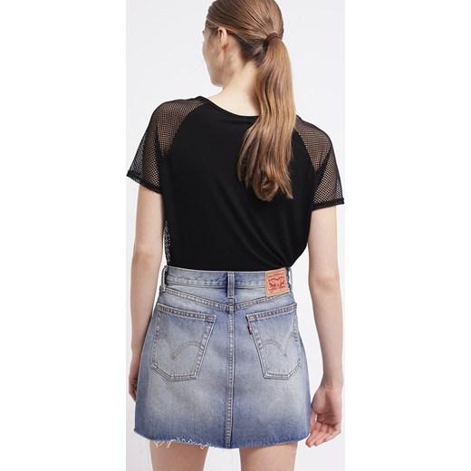 Levi's® Spódnica jeansowa czarny zalando bawełniane w Domodi