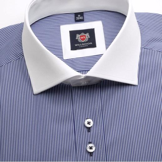 742d9f5058ec26 Koszula London (wzrost 176-182) willsoor-sklep-internetowy fioletowy koszule  w Domodi