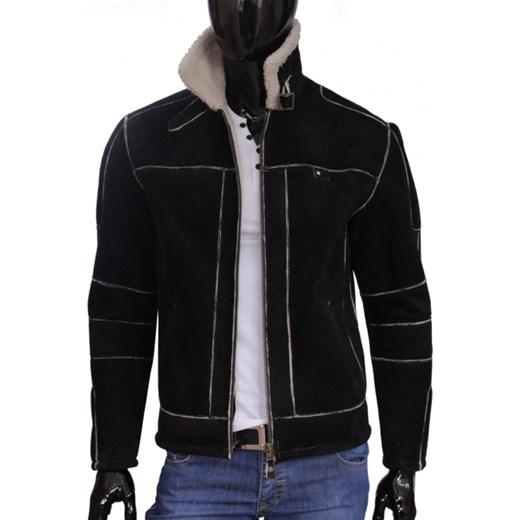 81dd257f0ccd0 Kożuch męski   kurtka zimowa DORJAN MCL009 czarny dopasowane w Domodi