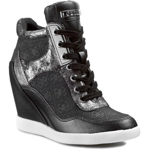 Genialny Sneakersy GUESS - Hilda FL2HDA FAL12 Blkbl eobuwie-pl szary Botki JL98