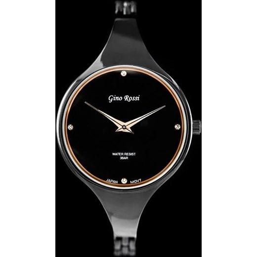 67bca2c527ca5 Zegarek damski GINO ROSSI - MEVA (zg531e) stylion-pl czarny damskie ...