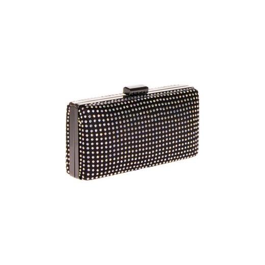 d8447bff9b494 Torebka wizytowa kuferek z dżetami czarny n-fashion-pl szary elegancki