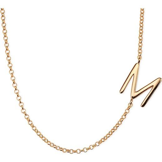Naszyjnik Litera M Myway Jewellery Bezowy Młodzieżowy W Domodi