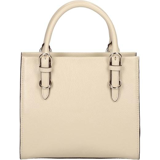 17400634e57d6 ... bezowy elegancki  Kremowa torebka skórzana kazar-com bezowy  minimalistyczny