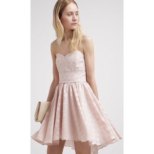 20d141fce ... bez wzorów/nadruków; Swing Sukienka koktajlowa beige zalando rozowy  fiszbiny ...